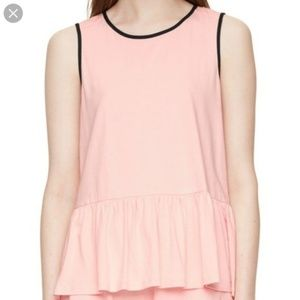 kate spade dream a little dream pink peplum top S